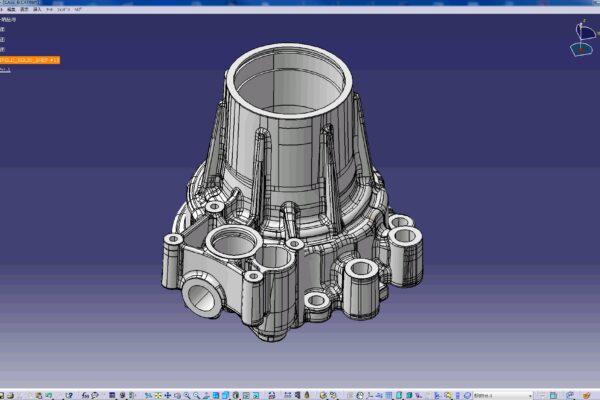 3Dリバースエンジニアリング作成データ(トランスファーケース)